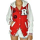 CBKTTRADE Damen College Jacke Old School Jacket Sweat Jacke Fox Hooded Boxusa (S/M, Fox Rot Weiss)