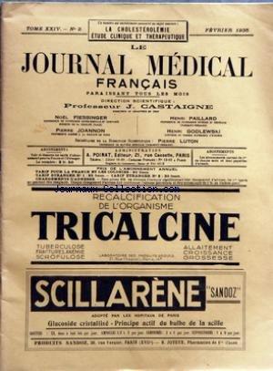 JOURNAL MEDICAL FRANCAIS (LE) [No 2] du 01/02/1935