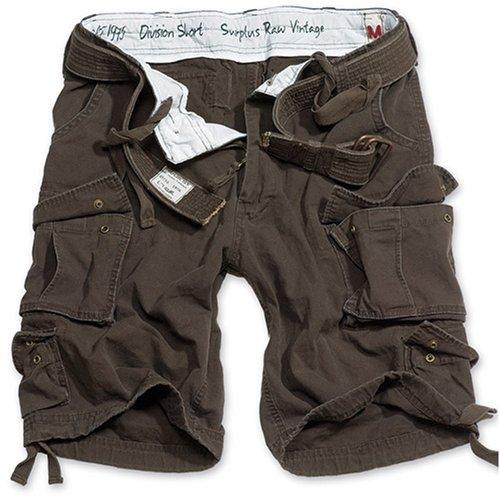 Surplus Division Herren Cargo Shorts, braun, XL