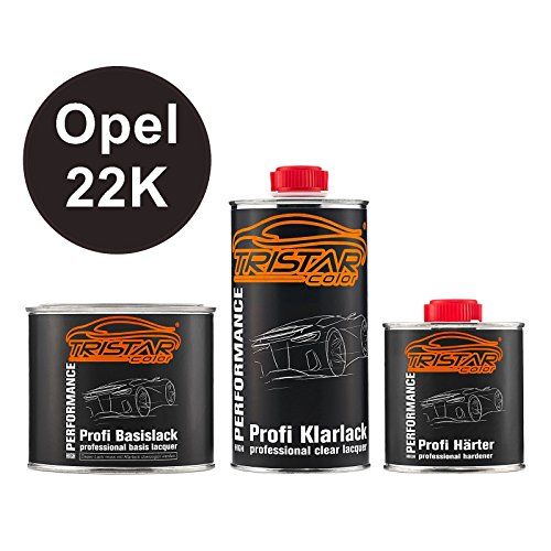 Preisvergleich Produktbild Autolack Set Dose spritzfertig Opel 22K Luxor Perl / Luxorblau Perl Basislack + 2K Klarlack 1,25L