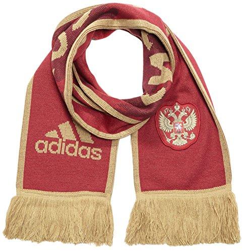 Adidas-Sciarpa da tifoso nel Design del casa maglia Country Fashion Scarf Russia russo, Burgundy, OSFM, ai4880