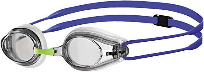 Arena 92341 Tracks Tracks Swimming Goggles (White/Clear/Blue)