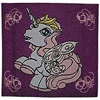Filly Princess Crystal 8 cm 10 cm Bügelbild Aufnäher Applikation lila violett