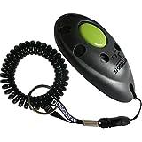 Dogsline Profi Clicker mit Spiralarmband für Clickertraining , schwarz , DL01PS