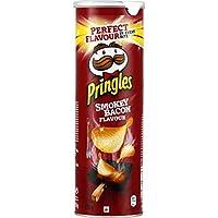 Pringles Biscuits apéritif Smokey Bacon La boite de 175g - Prix Unitaire - Livraison Gratuit Sous 3 Jours