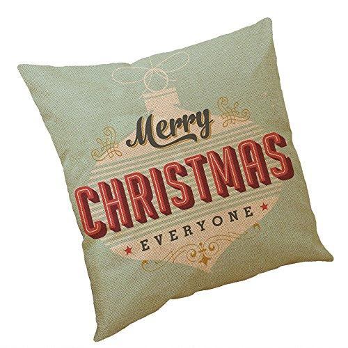 Lucky Mall Weihnachten Baumwolle Leinen Kissenbezug Sofa Kissenbezug Home Decor - Sammlung Pailletten-jersey