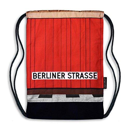 Turnbeutel Gym Bag Bahnhofstyle Berlin Berliner Strasse bunt neu/OVP