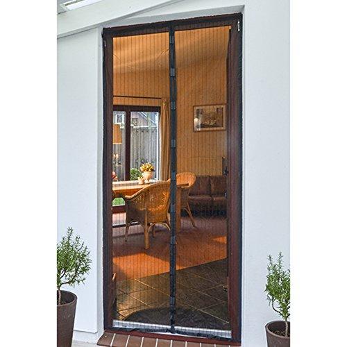 Fliegenschutz für Türen 210 x 100 cm mit Magnetverschluß einfache Montage • 2,1x1m Türvorhang Fliegenvorhang Vorhang Sichtschutz Insekten