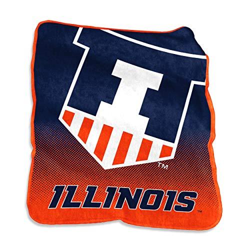 NCAA Illinois Illini Unisex Raschel Überwurf throwraschel Werfen, Karotte Illinois Fleece Throw Blanket