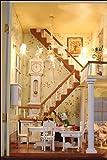 Puppenhaus Dollhouse Bausatz aus Holz mit kompletter Einrichtung incl. Beleuchtung DIY -