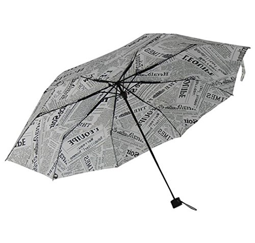Sucastle Dreifach, Hand offen, Zeitungsschirm, sonniger Regen, Dual Use, Mode, Kreativität, Regenschirm Sucastle: Farbe: Zeitungsdruckpapier: Größe: Solitär; 110cm: Durchmesser; 95cm