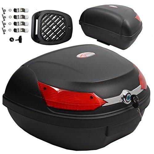 Baúl de moto universal 48 LT A-pro, desenganche rápido, para equipaje en...
