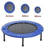 HOMCOM Cama Elástica Trampolín con diámetro 81/96/114cm y Muelles Resistentes hasta 100kg Color Azul Oscuro