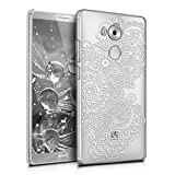 kwmobile Cover per Huawei Mate 8 - Custodia rigida trasparente per cellulare - Back Case cristallo in plastica bianco trasparente