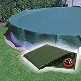 Pool Abdeckplane / Winterabdeckplane mit 180g/m² für Oval und Achtform Becken 725 - 737 x 460 cm