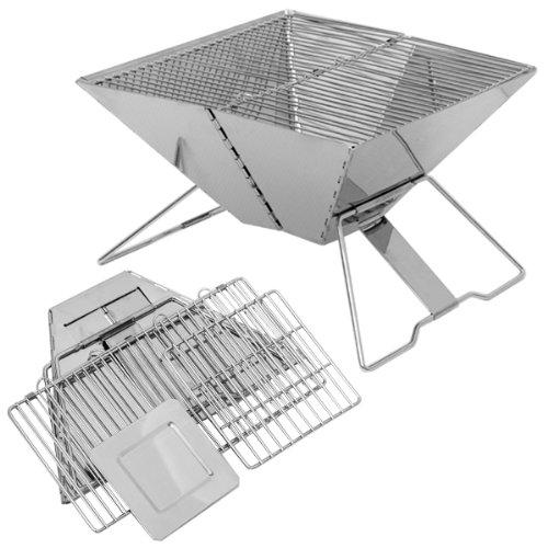 Eyepower barbecue a carbone arkansas 30x30cm piccolo bbq pieghevole portatile per cuocere alla griglia in acciaio