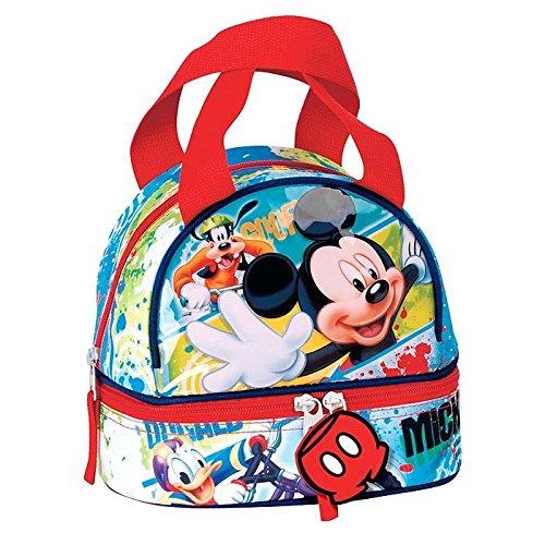 Mickey-mouse-taschen (Montichelvo Bolsa portameriendas Modell MICKEY MOUSE FACE, Composite, mehrfarbig, 25x 8x 20cm)