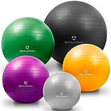 Pelota de ejercicio »Orion« con la bomba / Pelota gimnasia resistente para sentarse y para practicar ejercicio de entre 55 cm y 85 cm / Bola inflada / pelota pilates fitness / varios colores y tamaños / 85 cm / Plateada