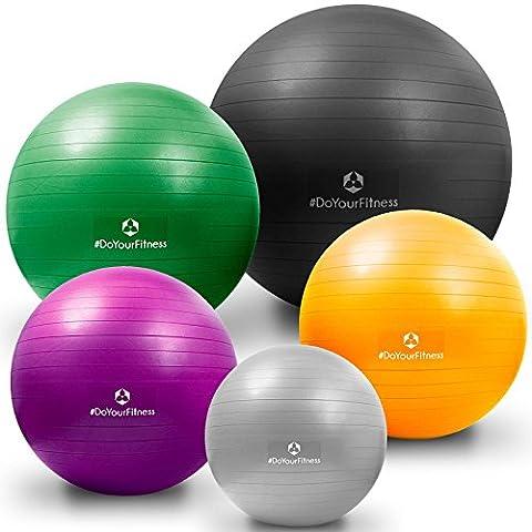 Gymnastikball »Orion« / Robuster Sitzball und Fitnessball von 55cm 65cm 75cm & 85cm inklusive Ballpumpe! / 55 cm / schwarz