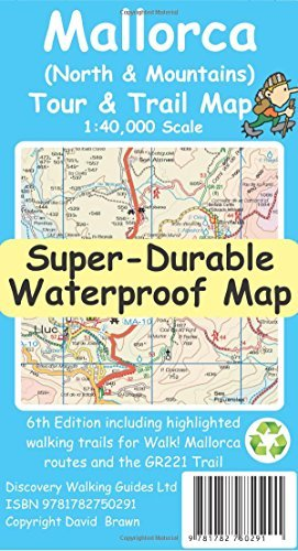 Mallorca North & Mountains Tour & Trail Super-Durable Map (6th ed) by David Brawn (2016-07-25)