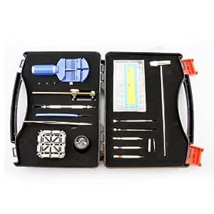 LB1 High Performance New Watch Repair Tool Kit for Casio AQ 160W-1BVDF Watch - 19 in 1 Professional Watch Repair Tool Set