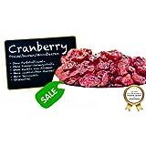 """Cranberries - ANGEBOTSPREIS - Moosbeeren - Cranberry - Airelle rouge - arándano rojo - mirtillo rosso, ungezuckert, ohne Schwefel, ohne Zusatzstoffe - mit Ananasdicksaft """"PREMIUM QUALITÄT""""- 1001 Frucht - EXCLUSIVE - Nüsse - Trockenfrüchte - Gewürze - 1kg"""