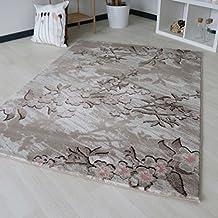 Teppich Mit Floral Blumen Blten Muster In Lila Grau Design Verschiedenen Farben Designer