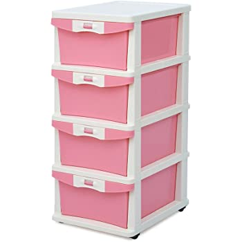 Nilkamal Chester 24 Series Plastic Four Drawer Cabinet (Multicolour)