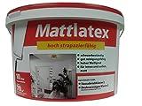 Wilckens Mattlatex Wandfarbe,hoher Weisgrad Matt 10 Liter