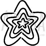 Azeeda Groß A2 'Stern-Muster' Wandschablone/Vorlage (WS00028433)