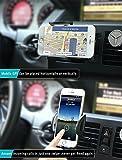 Handyhalterung Auto Kratzschutz 360°Drehbarem Gelenk [Lebenslange Garantie] IZUKU Handyhalter Auto Lüftungsgitter Universal Kompatibel für alle Smartphones mit einer Breite von 5,3cm bis 9,5cm - 7