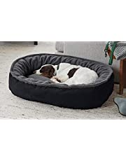 KOZI PET Ultra Soft Ethnic Designer Polyester Filled Reversible Fur Dual Color for Dog and Cat Beds (Export Quality), Black, Small, 850 g