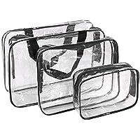 Bolsas de Aseo Transparente Neceser PVC Impermeable Mujer Bolsa de Cosmético Organizador de Viaje ...