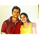 Live The Art Acrylic Portrait Double Gift for Couple, Family, Girlfriend, Birthday, Anniversary Size 12x18 inches
