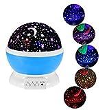 Kitlit Sternenhimmel Projektor Star Moon 360 Grad drehbar Star Projektor Romantische Nacht Lampe Projektion für Haus, Schlafzimmer, Kinder Zimmer, Hochzeit, Geburtstag, Parteien