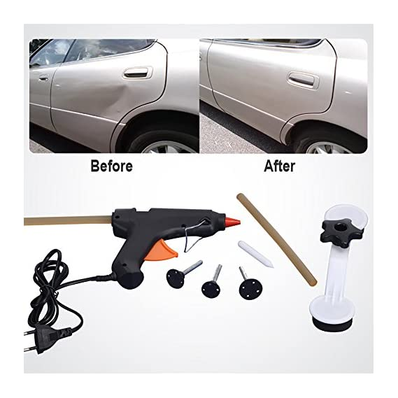 Best Deals - Auto Pops A Dent Ding Repair Removal Tool Car Care Tools Set Kit For Vehicle Automobile Abs Glue Gun Diy Paint.(Only one glue stick Contains in the Package even the package says two)