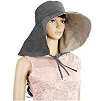 Peng sounded Moda Big Along The Sun Hat Mujer Summer Travel Beach Cool Hat Puede Doblar el Big Along The Sun Protection Hat.