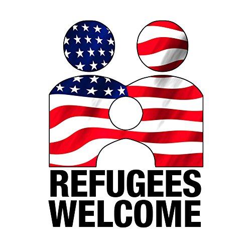 Vinyl Aufkleber-Flüchtlinge Willkommen Anti Trumpf
