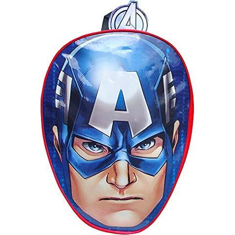 Producto oficial de Boy's de Capitán América azul mochila de viaje para la escuela