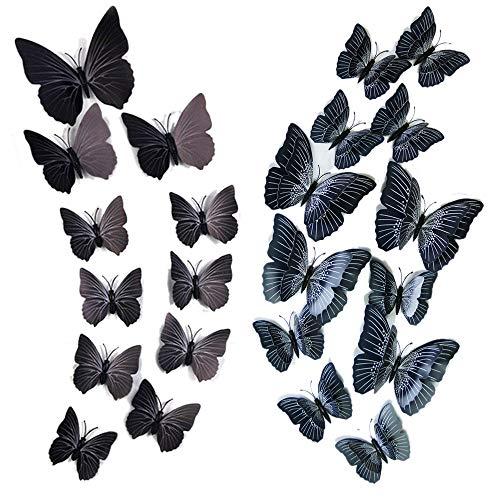 Lebendige 3D Schmetterling Wandaufkleber, Durable Butterfly Wandtattoo mit klaren Details, für DIY/Party Hochzeitsdekoration/Home Room Kinderzimmer Dekor