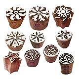 Royal Kraft Papier Drucken Blöck Arty Crafty Klein Runden Designs Holzstempel (Set von 10)