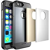iPhone 6S Plus Schutzhülle, SUPCASE Fullbody Rugged wasserabweisend Case für Apple iPhone 6Plus 14cm mit eingebauten Displayschutzfolie und 3austauschbare Abdeckungen) (Silber/Gold/Grau)