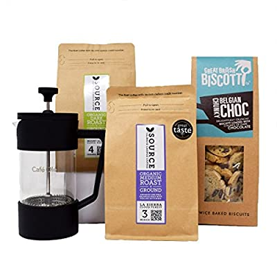 Father's Day Gift Hamper - 2x Ground Coffees, Biscotti & Cafetiere - from Discover Coffee from Discover Coffee