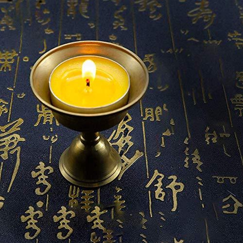 Holder Exquisite Lamp Size Butter Ghee Copper Brass Oil Candle Tibetan Vanvo Retro Multi jLAR354