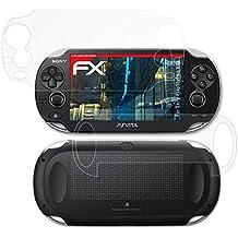 atFoliX Anti-Choque Lámina Protectora de Pantalla Sony PlayStation Vita Antichoque Película Protectora - Set de 3 - FX-Shock-Antireflex