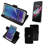 360° Funda Smartphone para Alcatel One Touch Idol 3 4,7 Zoll, negro   Función de stand Caso Monedero BookStyle mejor precio, mejor funcionamiento - K-S-Trade