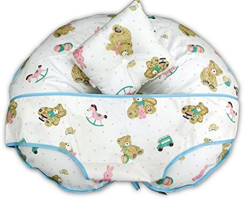 unique-4-in-1-premium-cotton-nursing-pillow-with-free-mini-pillow-and-baby-harness-teddy-rocking-hor