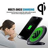 Kabelloses Ladegerät,Sisit Qi Wireless Charger Ladestation Dock für Samsung Galaxy S8 / S8 Plus (Schwarz)