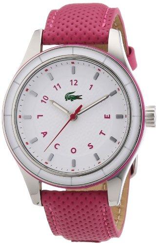 Lacoste 2000741 - Reloj analógico de Cuarzo para Mujer con Correa de Piel, Color Rosa