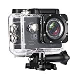 #5: Biansh Sports Action Camera Video Camera Waterproof Digital Cam Car Dash Cam Full HD 1080P 12MP 25fps 30fps Helmet Mount Accessories Camera Kit 2 inch LCD Screen